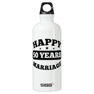 50-jährige glückliche Heirat Wasserflasche