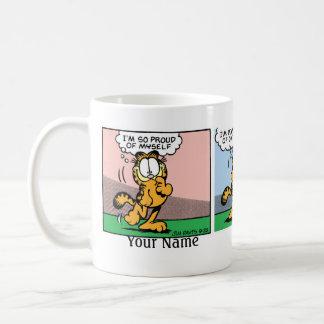 """""""50 Krapfen-"""" Garfield-Comic-Streifen Tasse"""