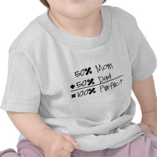 50 Mamma + 50 Vati 100 perfekter Säuglings-T
