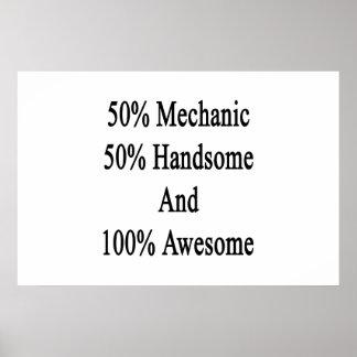 50 Mechaniker 50 hübsch und 100 fantastisch Poster