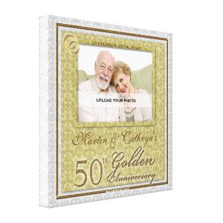 50. Personalisierte Foto-Leinwand des Gespannte Galeriedrucke