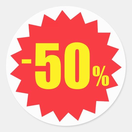 50 prozent verkaufsrabattaufkleber weiss und runder for Koch 50 prozent