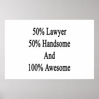 50 Rechtsanwalt 50 hübsch und 100 fantastisch Poster