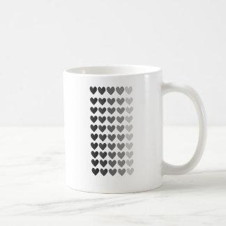 50 Schatten der grauen Herz-Formen Tasse