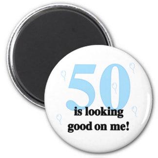 50 schaut auf mir gut runder magnet 5,1 cm