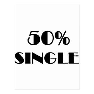 50% Single Postkarte