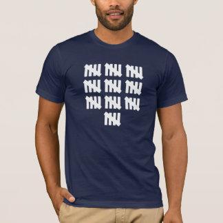 50 Tally-Kennzeichen inspiriertes 50. T-Shirt