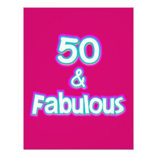 50 u. fabelhafte Geburtstags-Geschenke 21,6 X 27,9 Cm Flyer