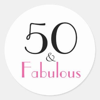 50 u. fabelhafter | 50. Geburtstag Runder Aufkleber