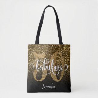 50 u. fabelhafter Imitat-Glitter/schwarzes Ombre Tasche