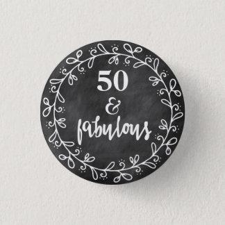 50 u. fabelhaftes - 50. runder button 2,5 cm