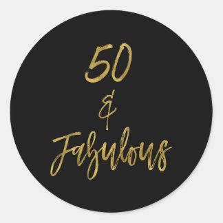 50 u. fabelhaftes | fünfzig und fabelhaftes runder aufkleber
