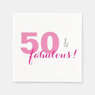 50 u. fabelhaftes rosa serviette