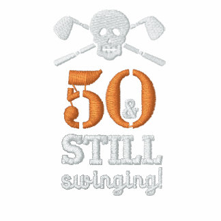 50 u. noch schwingen - Golf-Geburtstags-Shirt Polo Shirt