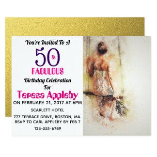 50 und fabelhafte 50. Geburtstags-Party Einladung