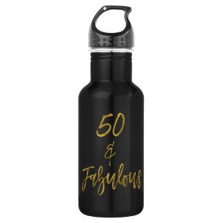 50 und fabelhafte edelstahlflasche