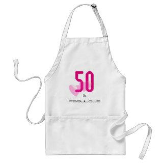 50 und fabelhafte elegante Geburtstags-Schürze des Schürze