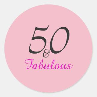 50 und fabelhafte Geburtstags   aufkleber