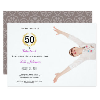 50 und fabelhafte Geburtstags-Party 12,7 X 17,8 Cm Einladungskarte