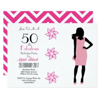 50 und fabelhafter 50. Geburtstags-Zickzack Karte