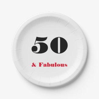 50 und fabelhafter alte Personen-Pappteller Pappteller