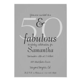 50 und fabelhaftes 12,7 x 17,8 cm einladungskarte