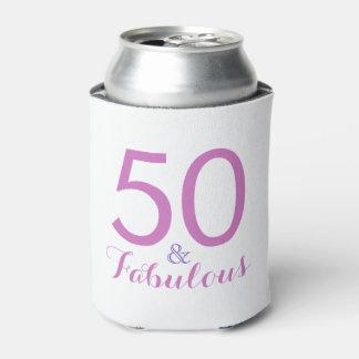 50 und fabelhaftes Geburtstags-Party-Rosa können Dosenkühler