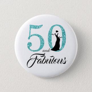 50 und fabelhaftes Geburtstags-Party Runder Button 5,7 Cm