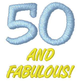 50 und fabelhaftes gesticktes Polo-Shirt