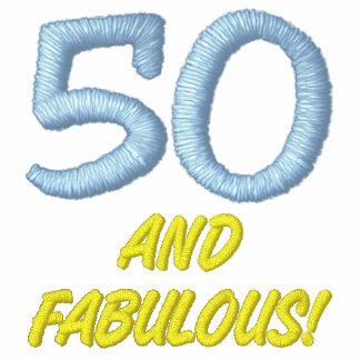 50 und fabelhaftes gesticktes Polo-Shirt Polo