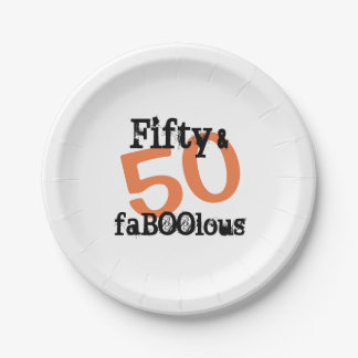 50 und fabelhaftes Halloween - fünfzig und Pappteller