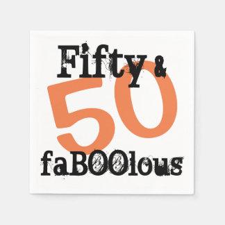 50 und fabelhaftes Halloween - fünfzig und Serviette