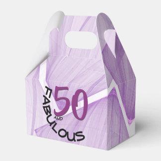 50 und fabelhaftes | lila u. schwarzes geschenkschachtel