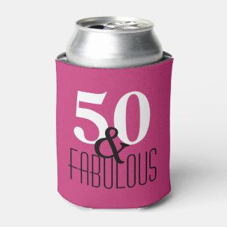 50 und fabelhaftes Schwarzweiss-Geburtstags-Party Dosenkühler