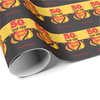 50 und noch Smokin heißer | 50. Geburtstag Geschenkpapier