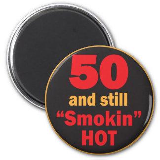 50 und noch Smokin heißer | 50. Geburtstag Runder Magnet 5,7 Cm