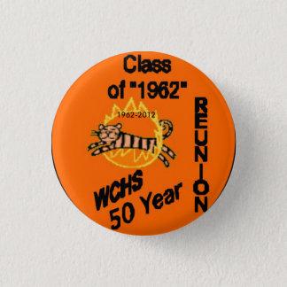 50 Wiedersehen-Knopf, 1962-2012 Runder Button 3,2 Cm