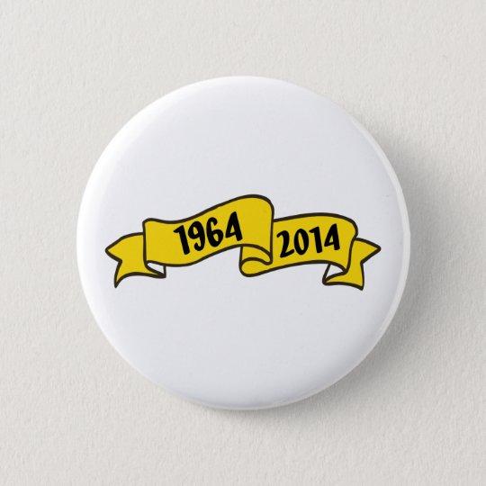 50 years runder button 5,7 cm