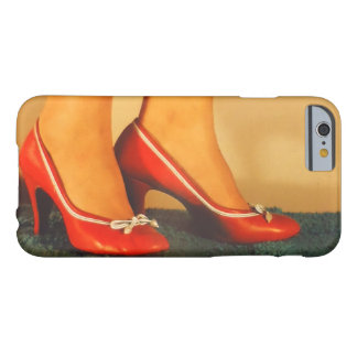 50er roter hoher Heels Barely There iPhone 6 Hülle