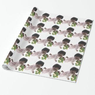 519 Sasha Cara Black Baby Geschenkpapier