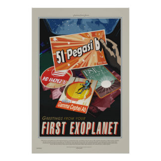 51 Pegasi b Ausflug - Exoplanet Reise-Büro-Plakat Poster