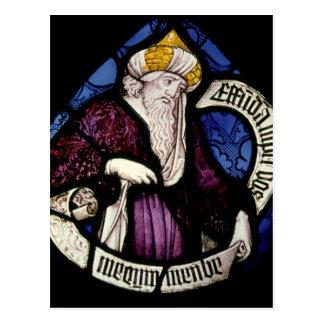52: Roundel des Prophets Ezekiel, 15. Jahrhundert Postkarte
