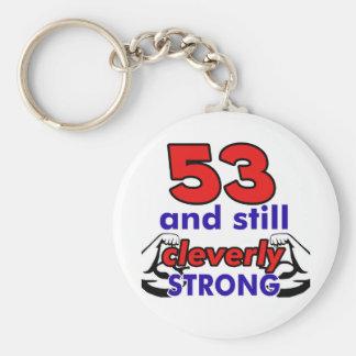 53 und noch klug stark schlüsselanhänger