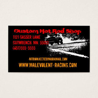 55 Chevy Gasser Burnout Visitenkarte