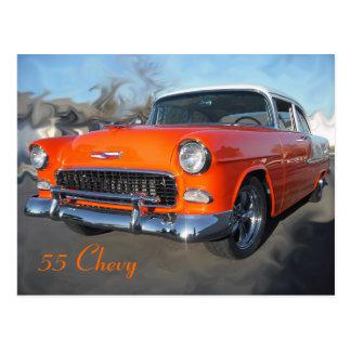 55 Chevy Postkarte