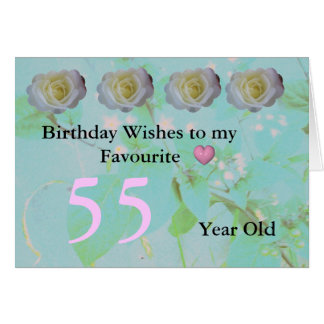 55. Geburtstag Karte