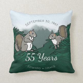 55. Hochzeitstag-Eichhörnchen Kissen
