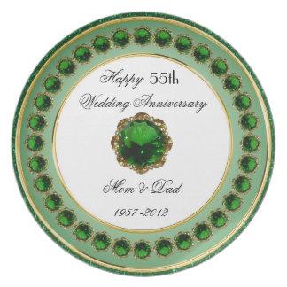 55. Hochzeitstag-Melamin-Platte Teller