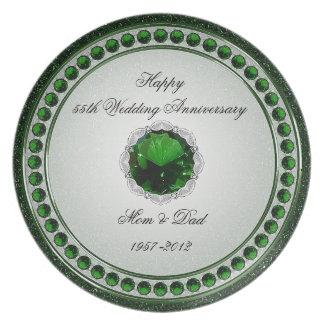55 Hochzeitstag-Melamin-Platte Teller