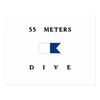 55 Meter Alphatauchen-Flaggen- Postkarte
